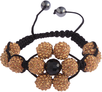 LSB0033-Wholesale & B2B Coffee Shamballa Bracelet Crystal-Disco Ball Friendship Bead Supplier & Manufacturer
