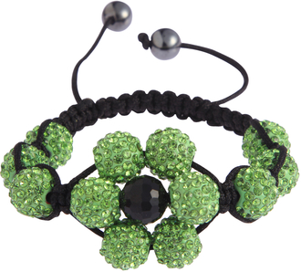 LSB0033-Green Shamballa Bracelet Crystal-Disco Ball Friendship Bead