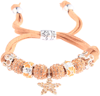 LSB0037- Champagne Crystal Bracelet With Star Charm