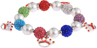 LSB0039-Wholesale & B2B Multi Colour Crystal Bracelet With Crown Charms Supplier & Manufacturer