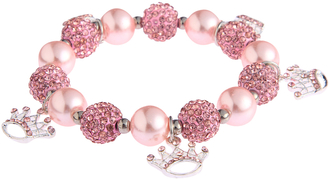 LSB0039-Wholesale & B2B Pink Crystal Bracelet With Crown Charms Supplier & Manufacturer