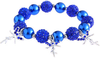 LSB0042- Blue Crystal Bracelet With Fairy Charms