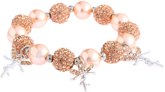 LSB0042- Champagne Crystal Bracelet With Fairy Charms