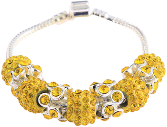 LSB0044- Lemonade Yellow Crystal Bracelet
