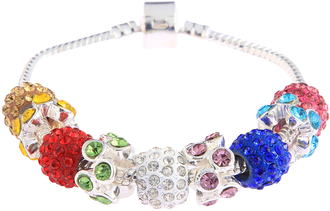 LSB0044- Multi Colour Crystal Bracelet