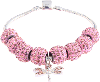 LSB0045- Wholesale & B2B Pink Crystal Bracelet With Dragonfly Charm Supplier & Manufacturer