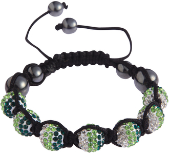 LSB0048- Green Shamballa Bracelet Crystal-Disco Ball Friendship Bead