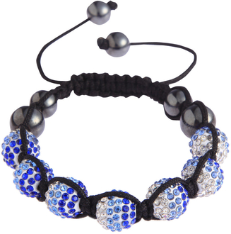 LSB0048- Blue Shamballa Bracelet Crystal-Disco Ball Friendship Bead