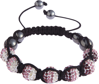 LSB0048- Purple Shamballa Bracelet Crystal-Disco Ball Friendship Bead