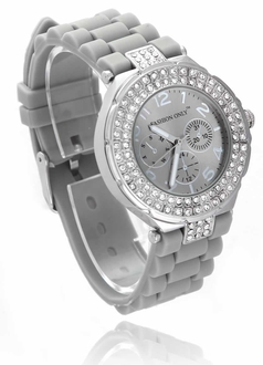 LSW001-Grey Womens Diamante Watch