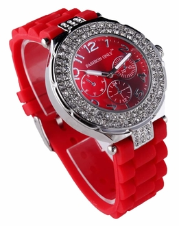 LSW001- Wholesale & B2B Red Womens Diamante Watch Supplier & Manufacturer
