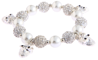 LSB0040- Wholesale & B2B White Crystal Bracelet With Skull Charms Supplier & Manufacturer