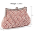 LSE0079 - Nude Crystal Evening Clutch Bag