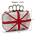 LSE00169 - Wholesale & B2B Ivory Knuckle Rings Clutch With Crystal Decoration Supplier & Manufacturer