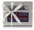 LSE00170 - Blue Union Jack Knuckle Rings Clutch With Crystal Decoration