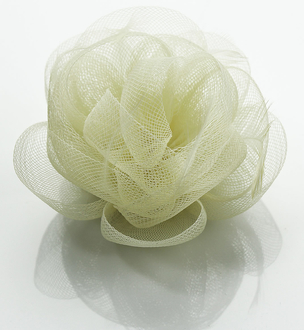LSH0091- Ivory Feather & Flower Fascinator