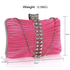 LSE0049 - Gorgeous Pink Crystal Strip Clutch Evening Bag