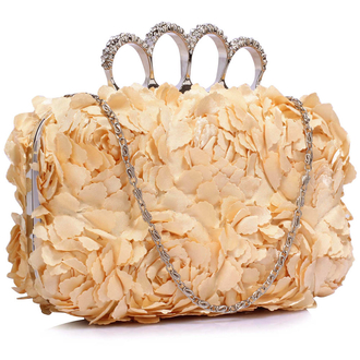 LSE00145- Nude Women's Knuckle Rings Evening Bag