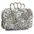 LSE00145- Silver Women's Knuckle Rings Evening Bag