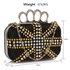 LSE00176- Wholesale & B2B Black Women's Knuckle Rings Evening Bag Supplier & Manufacturer