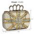 LSE00176- Wholesale & B2B Ivory Women's Knuckle Rings Evening Bag Supplier & Manufacturer
