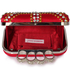 LSE00176- Red Women's Knuckle Rings Evening Bag