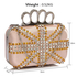 LSE00176- Wholesale & B2B Nude Women's Knuckle Rings Evening Bag Supplier & Manufacturer