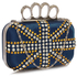 LSE00176- Wholesale & B2B Navy Women's Knuckle Rings Evening Bag Supplier & Manufacturer