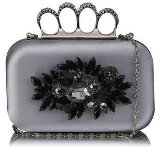 LSE00178- Wholesale & B2B Silver Women's Knuckle Rings Evening Bag Supplier & Manufacturer