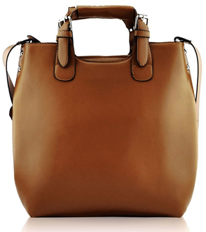 LS00267 - Tan Ladies Fashion Tote Handbag