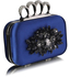 LSE00178- Navy Women's Knuckle Rings Evening Bag