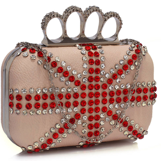 LSE00177- Wholesale & B2B Nude Women's Knuckle Rings Evening Bag Supplier & Manufacturer