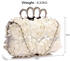LSE00145- Ivory Women's Knuckle Rings Evening Bag