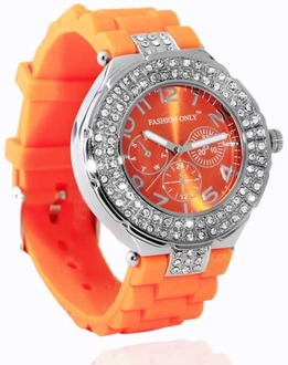 LSW001- Wholesale & B2B Orange Womens Diamante Watch Supplier & Manufacturer