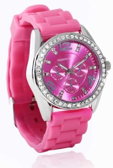 LSW002- Fuchsia Womens Diamante Watch