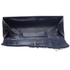 LSE0078 - Navy Ruched Satin Clutch With Crystal Flower