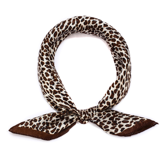 LSSC003 - Brown Square Animal Print Women's Scarf
