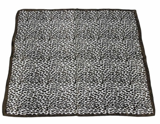 LSSC003 - Brown Square Animal Print Womens Scarf