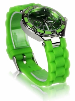 LSW0015- Wholesale & B2B Green Unisex Diamante Watch Supplier & Manufacturer