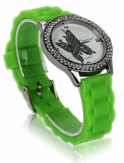 LSW0018- Wholesale & B2B Green Womens Butterfly Diamante Watch Supplier & Manufacturer