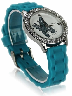 LSW0018- Wholesale & B2B Teal Womens Butterfly Diamante Watch Supplier & Manufacturer