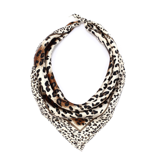 LSSC004 - Brown Animal Print Women's Scarf
