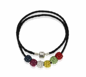LSN009- Multi Coloured Women's Crystal Necklace