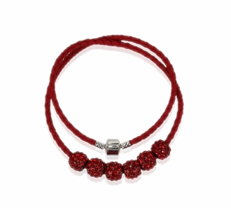 LSN009- Red Women's Crystal Necklace