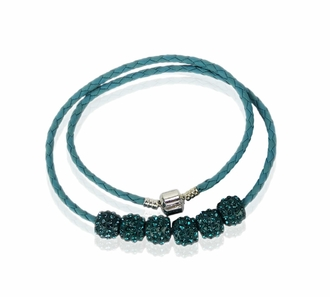 LSN009- Teal  Women's Crystal Necklace