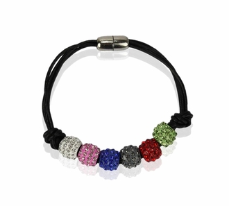 LSB0058- Multi Coloured Crystal Bracelet