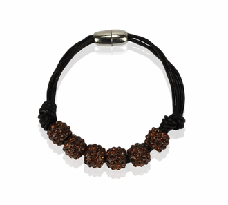LSB0058- Coffee Crystal Bracelet