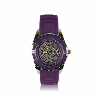 LSW0011- Women's Purple Crystal Watch