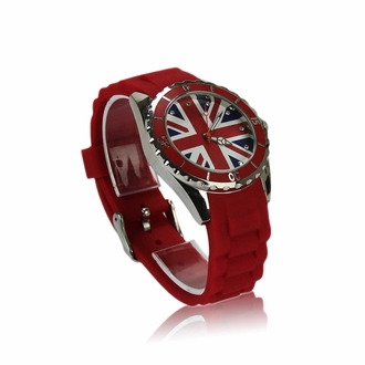 LSW0014- Red Diamante Union Jack Watch
