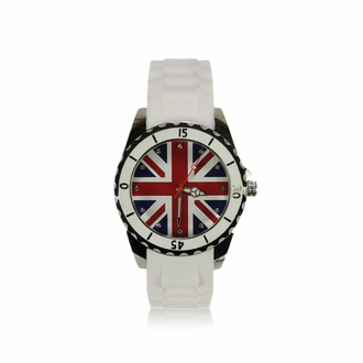 LSW0014- White Diamante Union Jack Watch